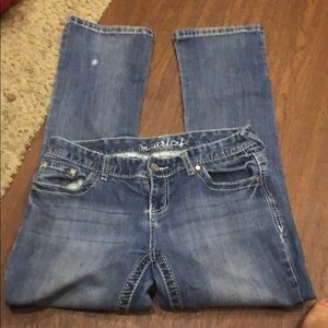 Maurice's straight jeans size 3/4 xshort